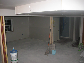 The drywall is up!